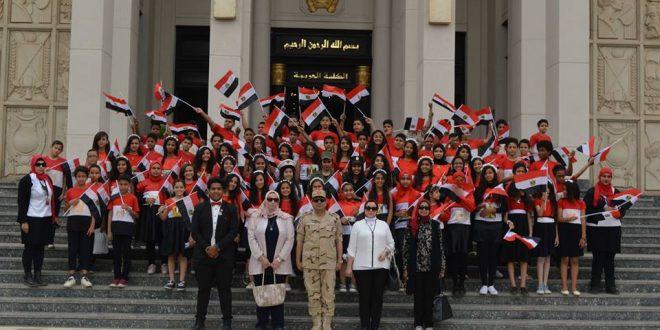 بالصور الكلية الحربية تستقبل عدداً من طلبة المدارس من مختلف محافظات الجمهورية .