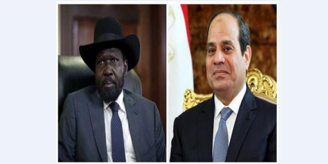 الرئيس السيسي يستقبل اتصالاً هاتفياً من الرئيس سيلفا كير رئيس جمهورية جنوب السودان